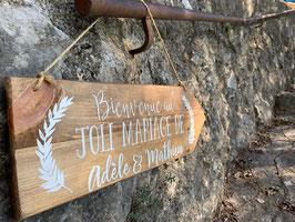 Pancarte Le Joli mariage