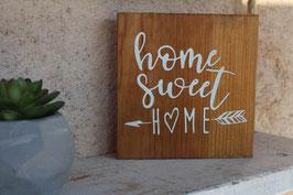 Panneau carré Home Sweet home