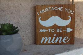 Panneau carré Moustache