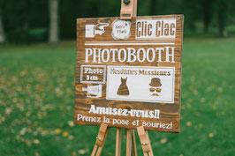 Panneau Photo Booth Vintage