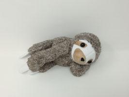 Kleines, personalisiertes Kuscheltier für Spieluhr Faultier, Gr. 20cm, Kuscheltier Faultier mit Namen für deine Wunsch- Spieluhr, aus kuschel-weichen Baumwoll-Plüsch, braun