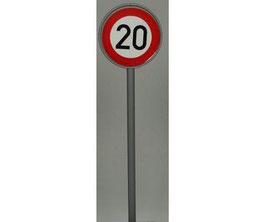 Verkehrszeichen 274 Höchstgeschwindigkeit 20km/h