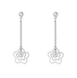 Boucles d'Oreilles Lina - Cristal Transparent