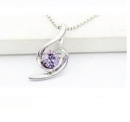 Collier Goutte Cristal Violet (GV)