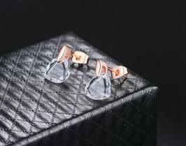 Boucles d'Oreilles Coeur Cristal (réf : AV459)