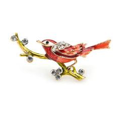 Broche Petit Oiseau Rouge (réf : OSR1)