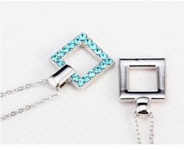 Collier Géométrique Bleu (N22)