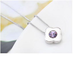 Collier Lina - Cristal Violet (réf : 2035CT)