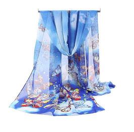 Foulard Bleu Papillons (réf : NP0)
