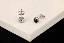 Boucles d'Oreilles Cristal Noir (réf : NBO)