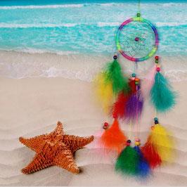 Attrape Rêve Plumes Multicolores (réf : REV5)