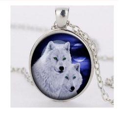 Collier 2 Loups (réf : WL3)