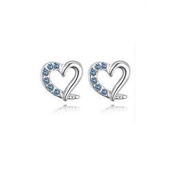Boucles d'Oreilles Coeur Bleu Turquoise (réf : BCT)