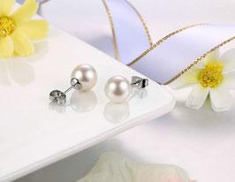 Boucles d'Oreilles Perles de Synthèse (réf : TO23)