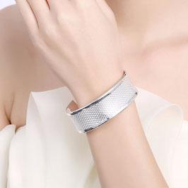 Bracelet Mat et Brillant Plaqué Argent (réf : 1210BJ)