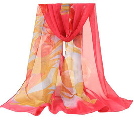 Foulard Rose Tulipes (réf : J3)