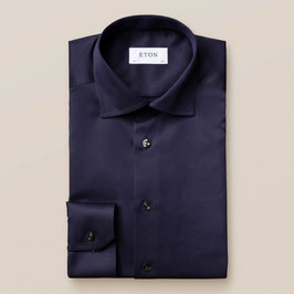 ETON Navy blue shirt - signature twill