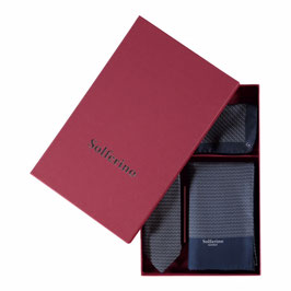Gift Box Dark Navy: Scarf, Tie & Pocket Square