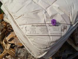 Bettdecke 100%Schurwolle/Schaf 135x200cm Qualitäts-Naturbett