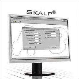Skalp-Schleppmesser-Software