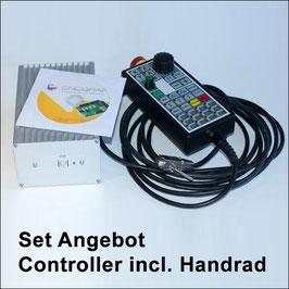 CNC Controller smc5d-p32 in Alu-Gehäuse inkl. Handrad