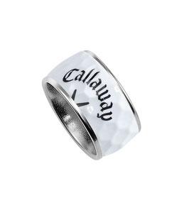 BIRDIE golf ball ring with white golf ball inlay & Callaway logo