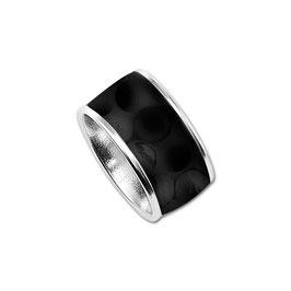 BIRDIE golf ball ring with black golf ball inlay