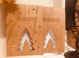 Weihnachtskarten Motiv Bäume