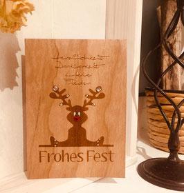 Weihnachtskarten Motiv Elch