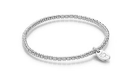 Lentic Silberarmband 925 Sterlingsilber rhodiniert