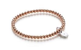 Spheric Silberarmband 925 Sterlingsilber rosévergoldet