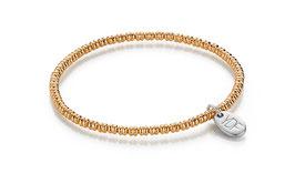 Lentic Silberarmband 925 Sterlingsilber rosévergoldet
