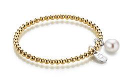 Spheric-Pearl Silberarmband 925 Sterlingsilber gelbvergoldet