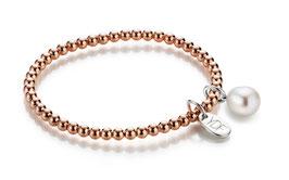 Spheric-Pearl Silberarmband 925 Sterlingsilber rosévergoldet