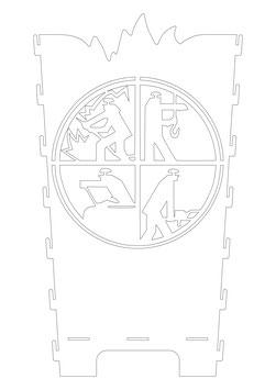 Feuerkorb Wand Feuerwehr Logo