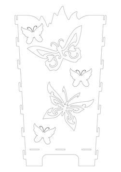 Feuerkorb Wand Schmetterlinge Familie