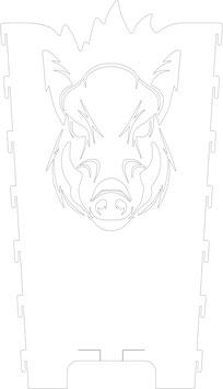 Feuerkorb Motivseite Wildschwein Eber