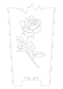 Feuerkorb Motivseite Rose