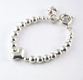"""Kinder-Armband """"Silber"""" mit Herz"""