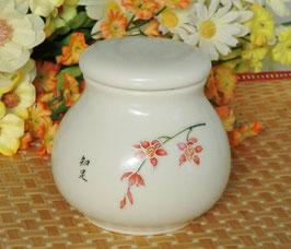 陶磁器製茶筒 4点シリーズ 【蘭の花】580