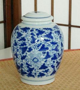 【中国茶・台湾茶専用 陶磁器製茶筒/茶缶/茶壷(大)】530
