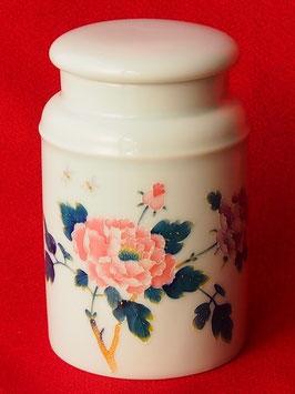 金粒貼り中国茶器 牡丹柄茶筒+高山茶150g 528