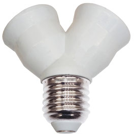 LED Adapter E27 auf 2x E27