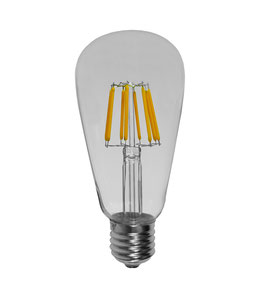 E27 LED ST64 8W, Warmweiss