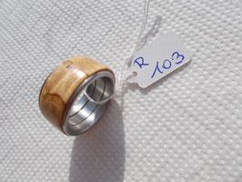Ring aus Karelischer-Maserbirke