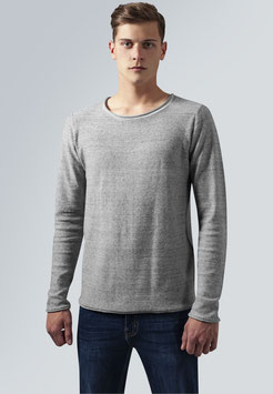 Fine Knit Melange Cotton Sweater