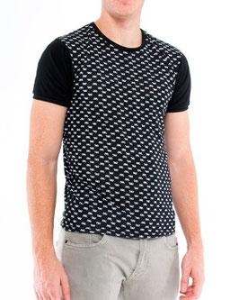 Black t-shirt white print