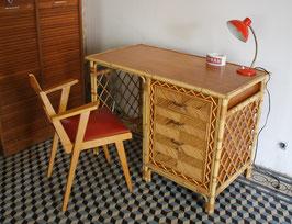 Bureau en rotin et bambou
