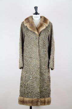 Persian Lamb & Mink Fur Coat