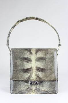 Lizard Pattern Leather Bag